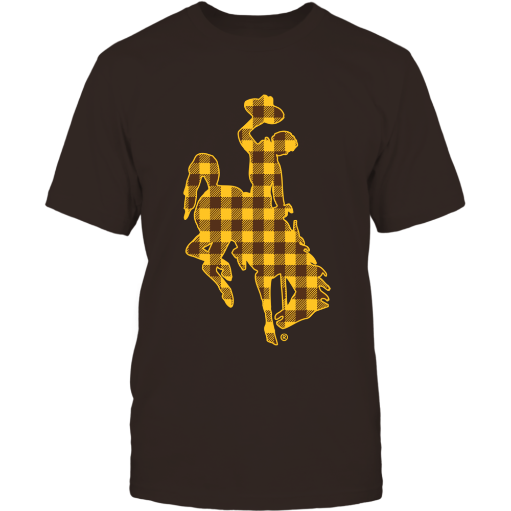 Wyoming Cowboys - Checkered Pattern Logo Front picture