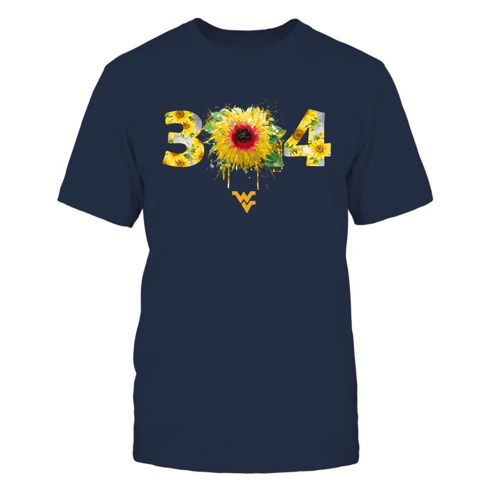West Virginia Mountaineers - Color Drop Area Code Sunflower Front picture