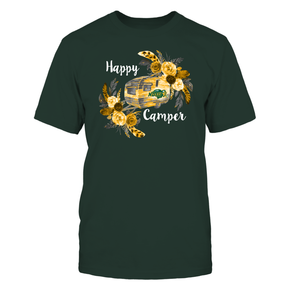 North Dakota State Bison - Camping - Floral Happy Camper Front picture