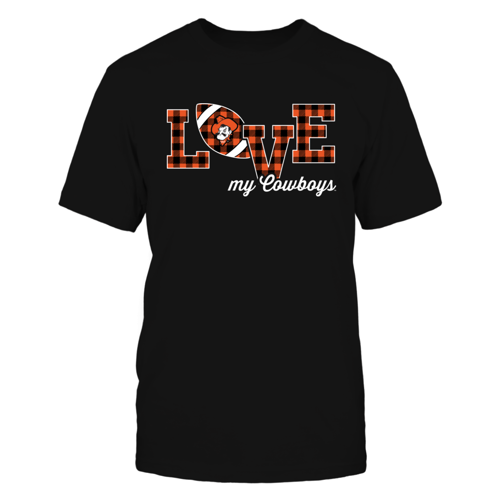 Oklahoma State Cowboys - Love My Team - Football - Checked Pattern Front picture
