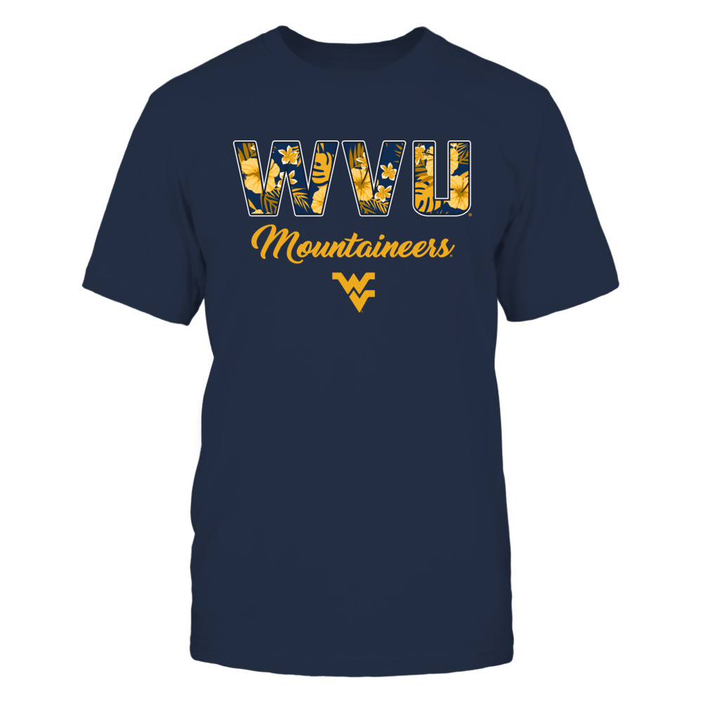 West Virginia Mountaineers - Tropical Patterned Letters - Team Name Front picture