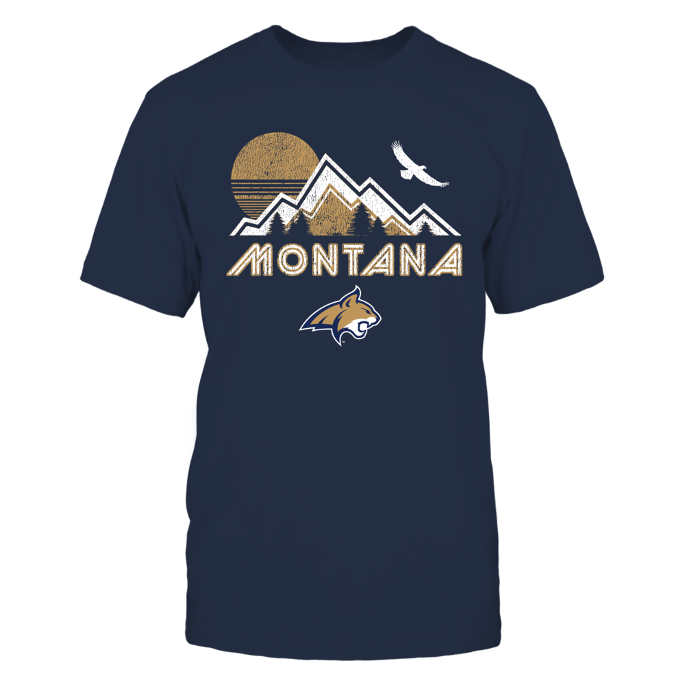 Montana State Bobcats - Retro Montana Mountain Front picture