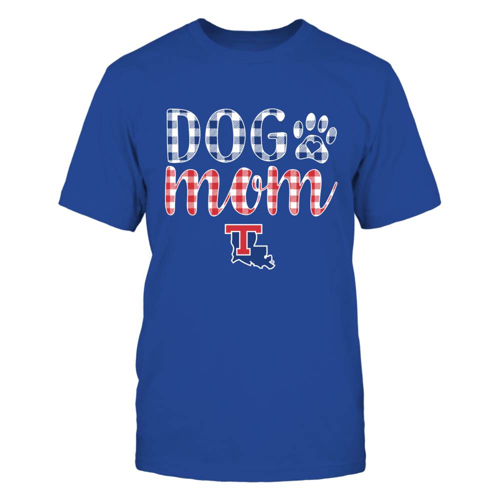 Louisiana Tech Bulldogs - Dog Mom - Checkered Pattern Front picture
