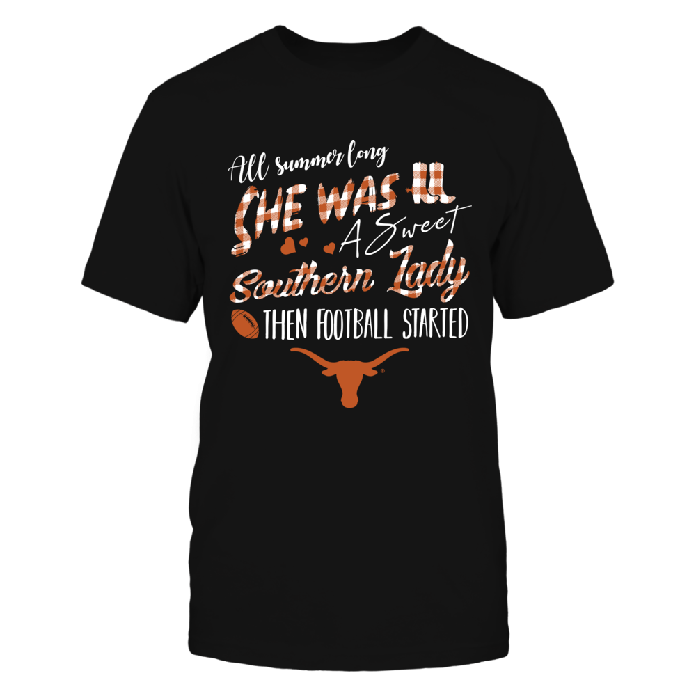 Texas Longhorns - Southern Lady - Checkered Pattern Front picture