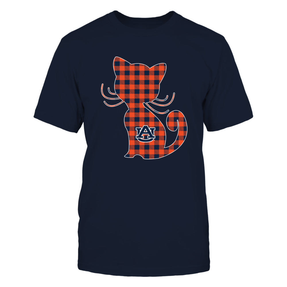 Auburn Tigers - Cute Cat Checkered Pattern Front picture