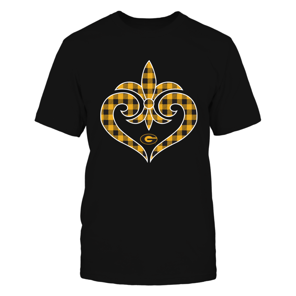 Grambling State Tigers - Fleur De Lis Heart - Checkered Pattern Front picture