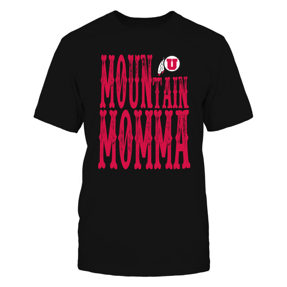 Utah Utes - Mountain Momma Insidie State Map Front picture