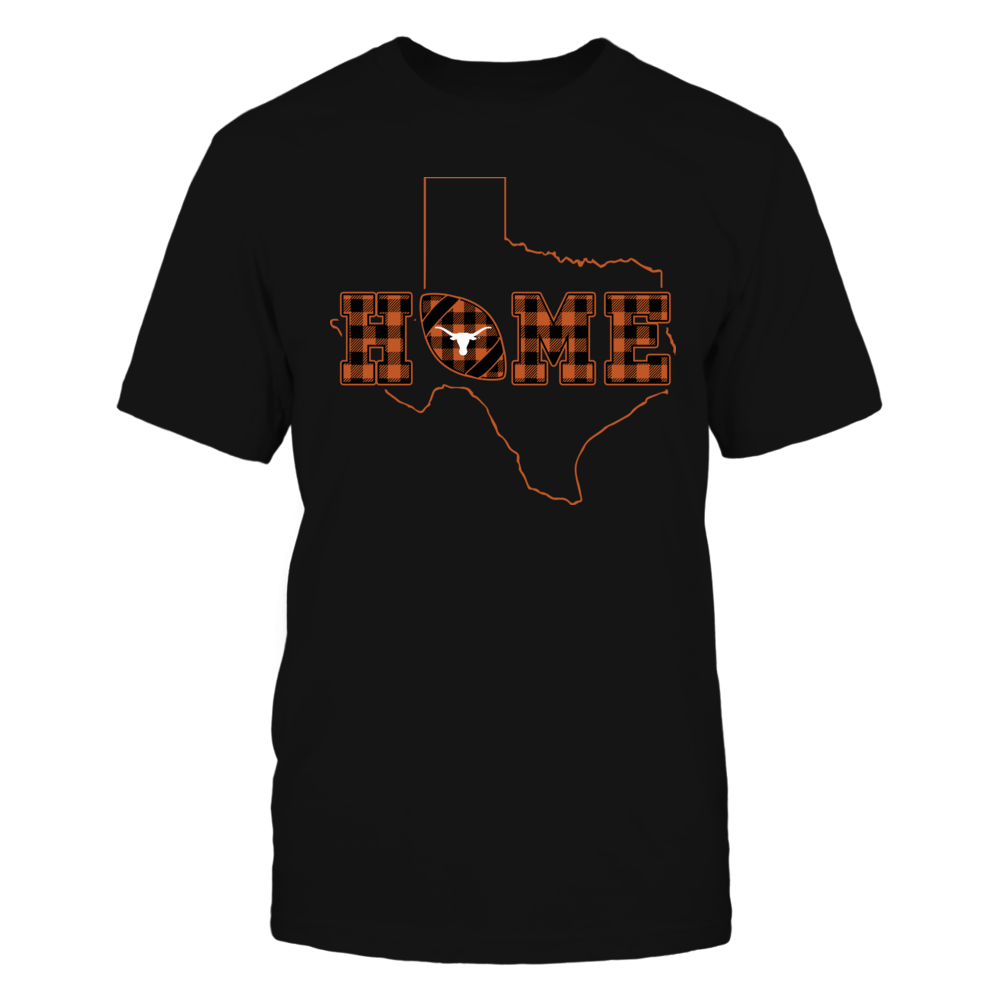 Texas Longhorns - Home Football - State Outline - Checkered Pattern Front picture