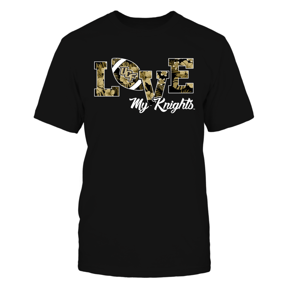 UCF Knights - Love My Team - Football - Tropical Pattern Front picture