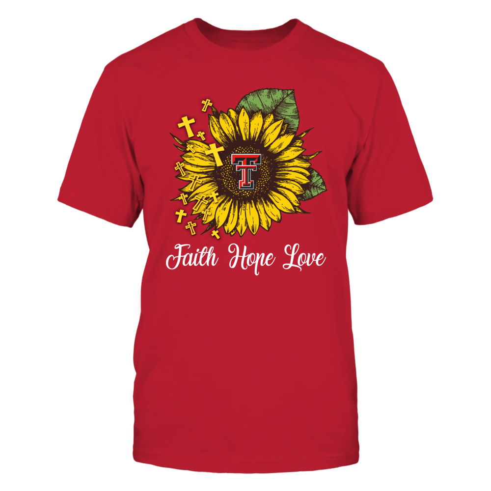 Texas Tech Red Raiders - Faith Hope Love Sunflower Front picture