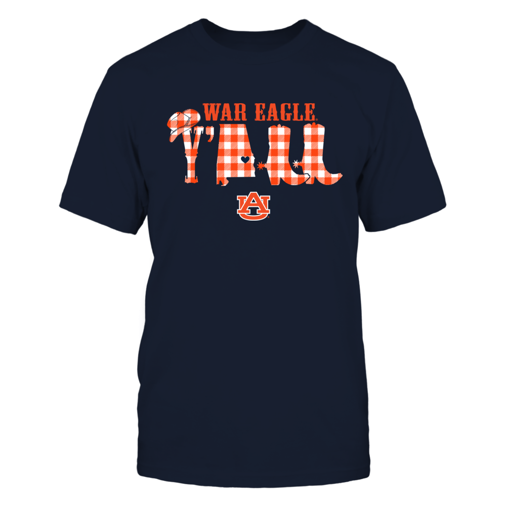 Auburn Tigers - Y'all Boot - Checkered Patterned Front picture