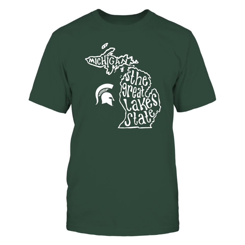 Michigan State Spartans - The Great Lake State Map Front picture