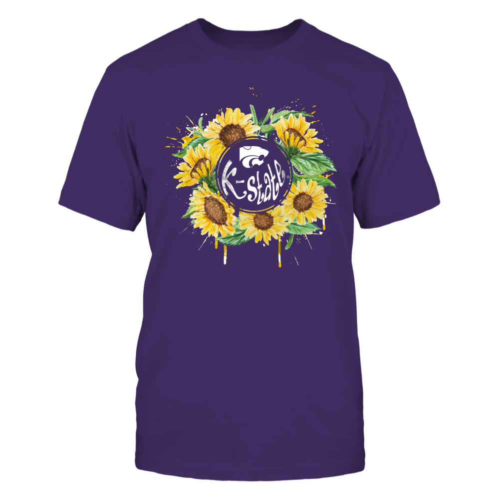 Kansas State Wildcats - Color Drop - Sunflower Monogram Front picture