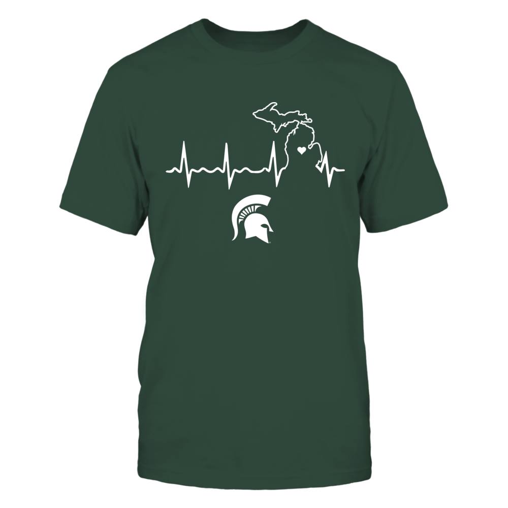 Michigan State Spartans - Heartbeat State Shape Front picture