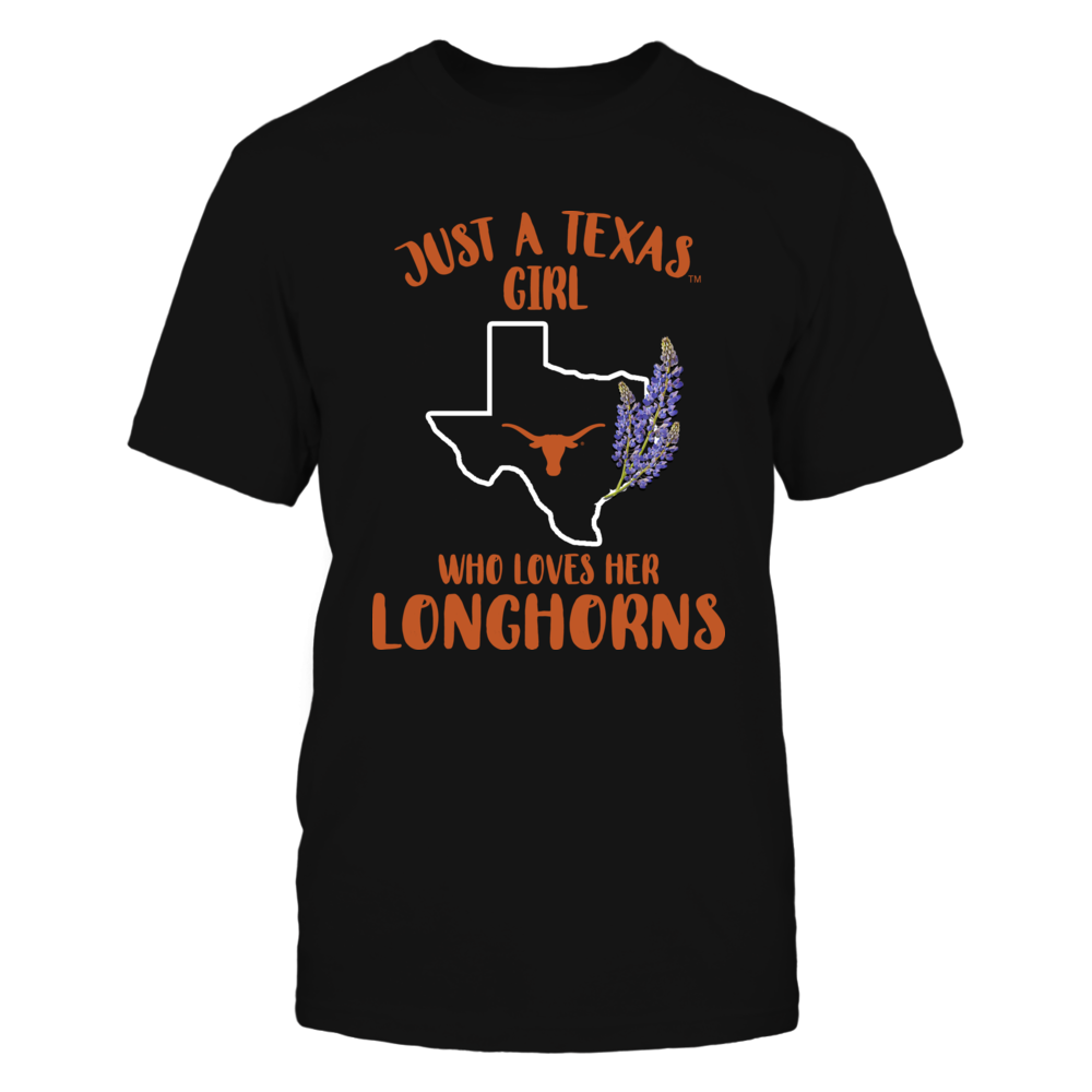 Texas Longhorns - Just A Woman - State Map And State Flowers Front picture