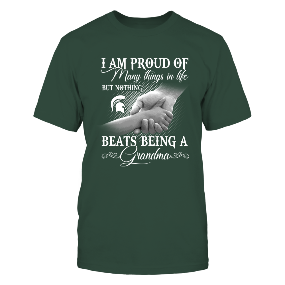 Michigan State Spartans - Nothing Beats Being A Grandma - Checkered Pattern Front picture