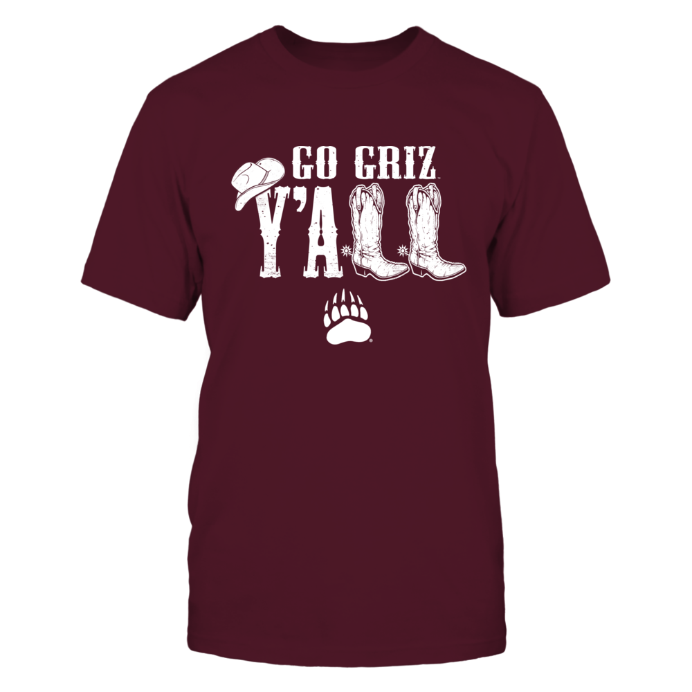 Montana Grizzlies - Y'all Boots Front picture