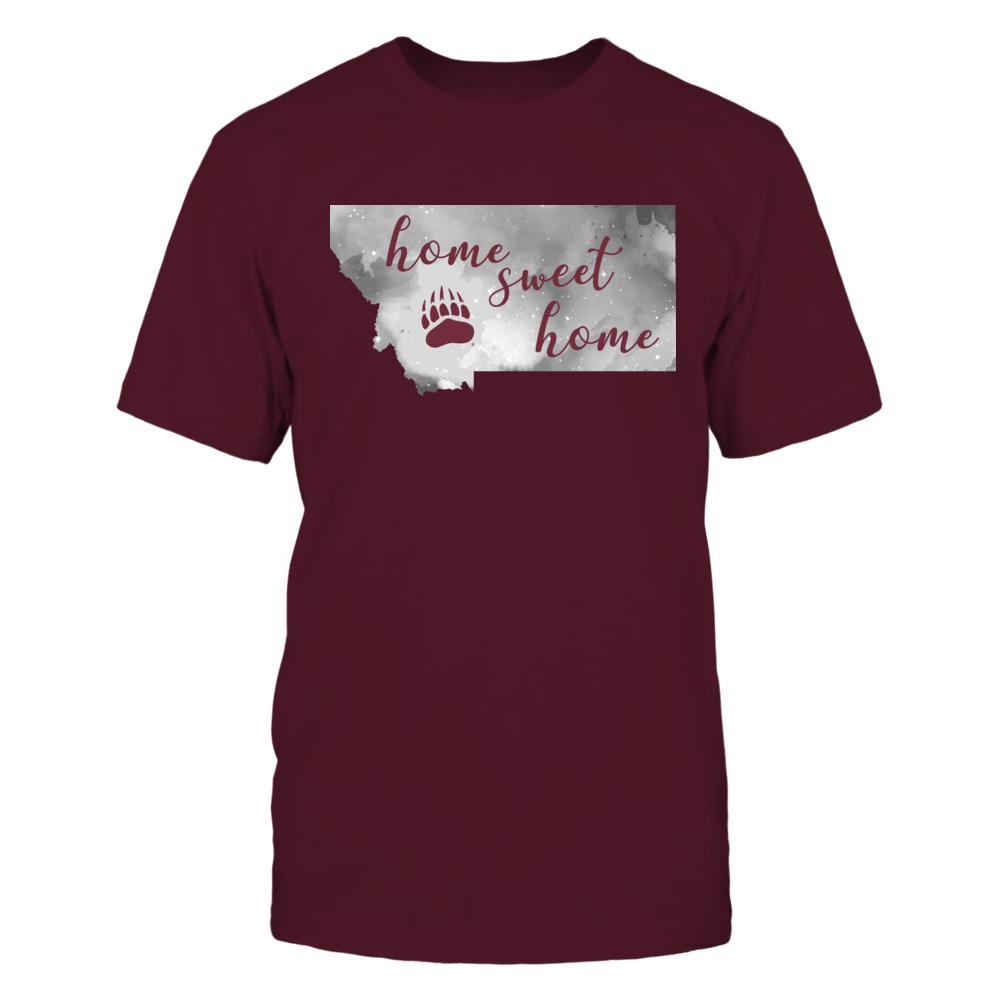 Montana Grizzlies - Home Sweet Home - Color Drop State Map Front picture