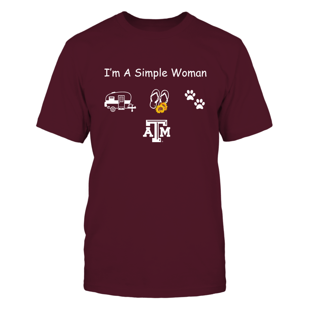 Texas A&M Aggies - Camping - Simple Woman Front picture