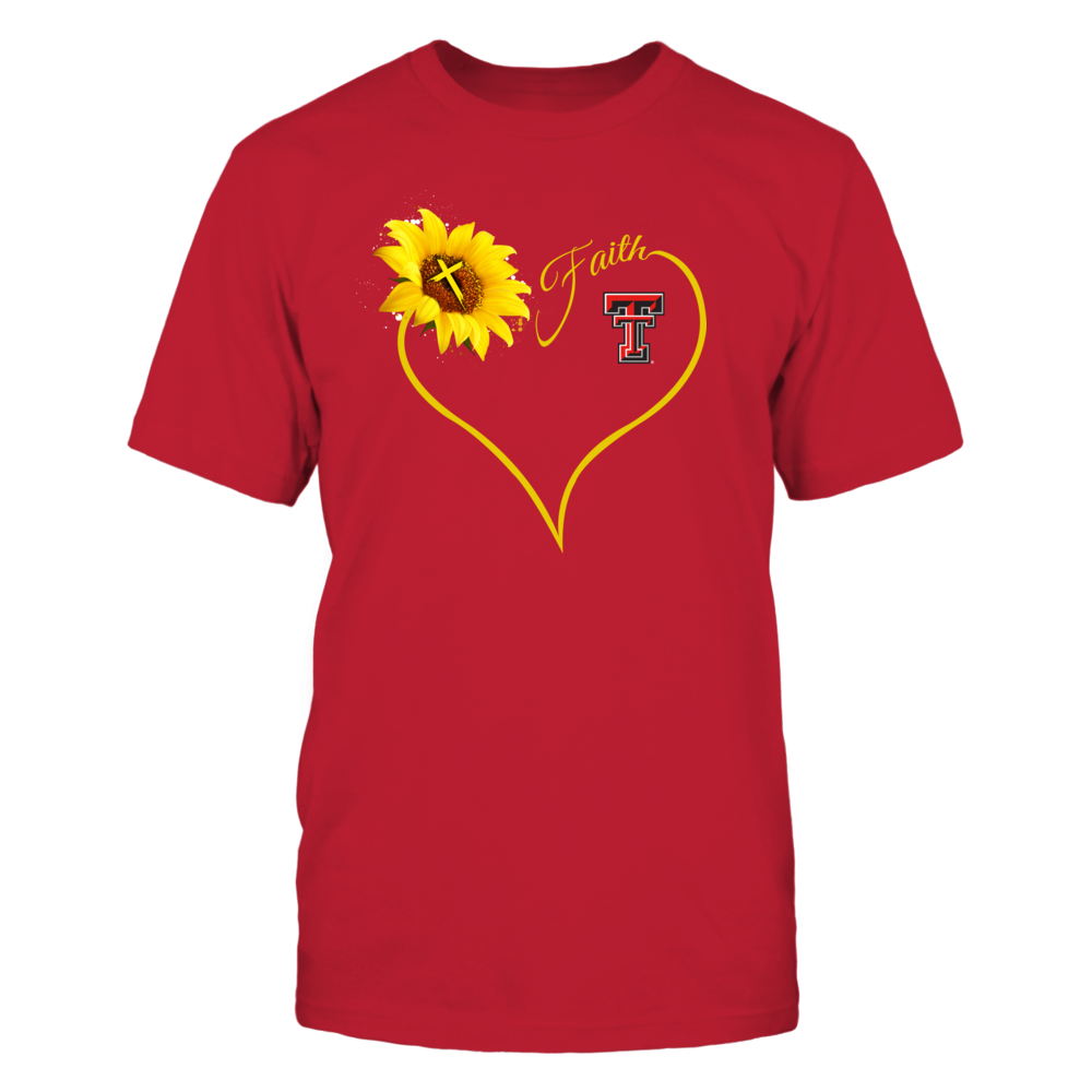 Texas Tech Red Raiders - Heart Sunflower - Faith Front picture