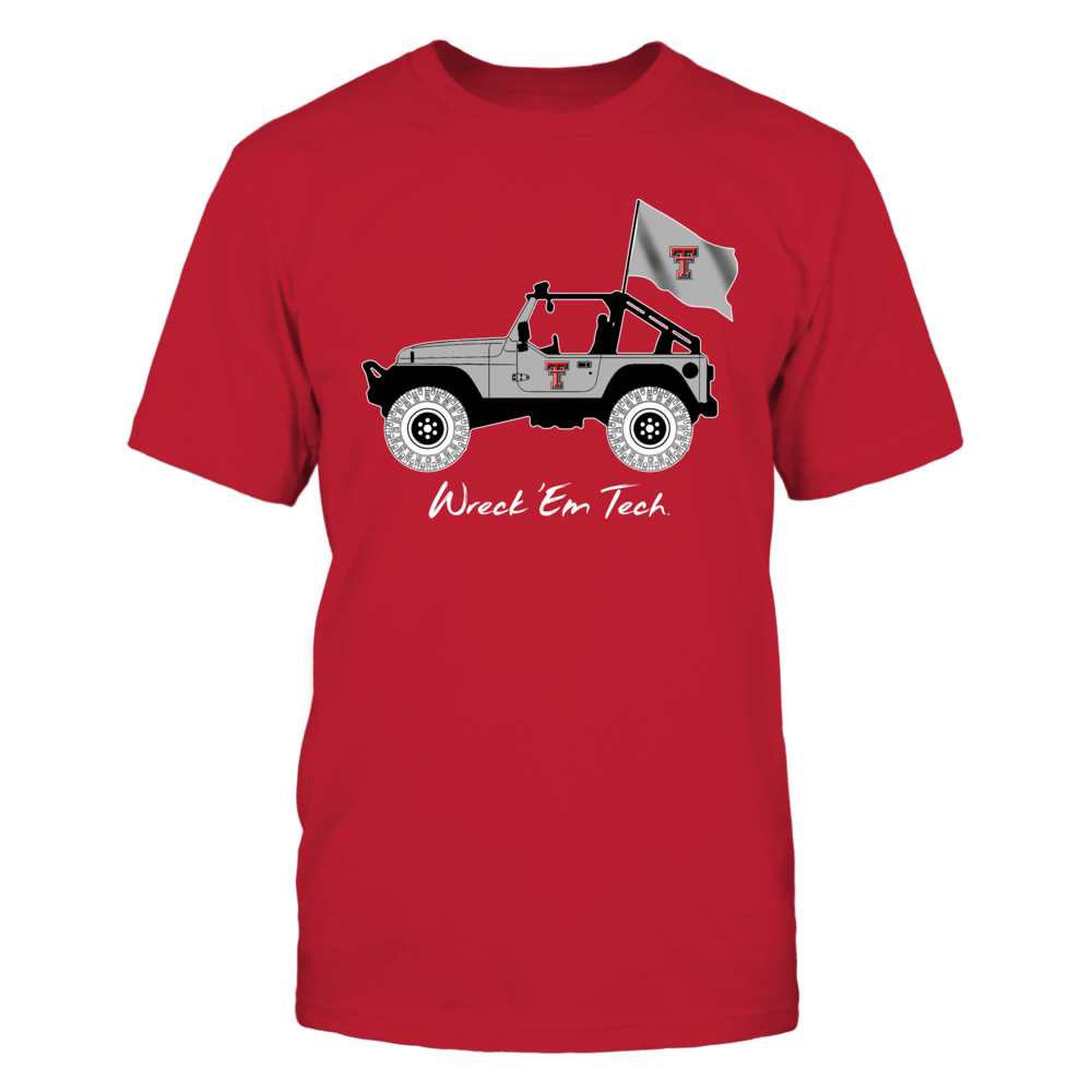 Texas Tech Red Raiders - Jeep - Jeep Car - Red Shirt Front picture