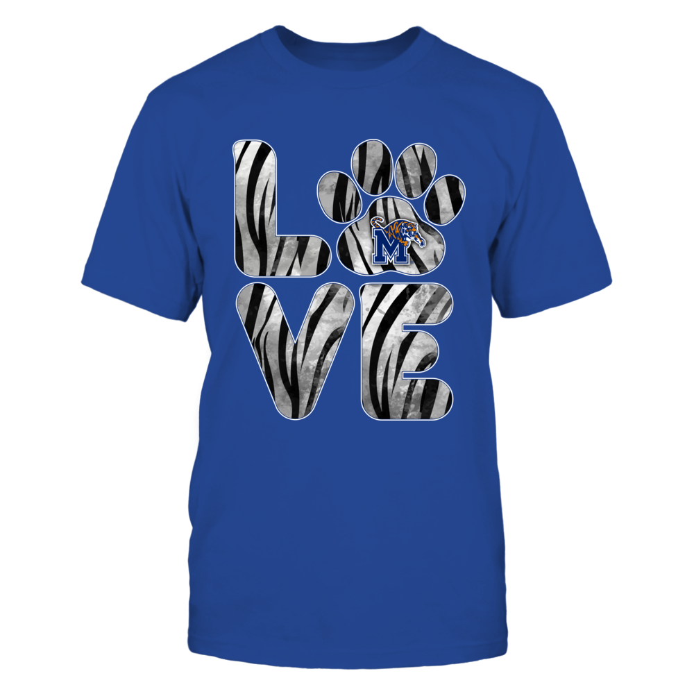 Memphis Tigers - Stacked Love - Paw - Tiger Stripe Front picture