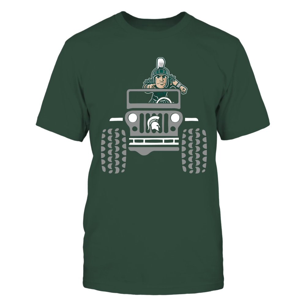 Michigan State Spartans - Jeep - Jeep Car And Mascot Front picture