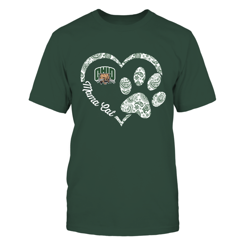 Ohio Bobcats - Mama Cat - Heart Paw - IF-IC13-DS38 Front picture