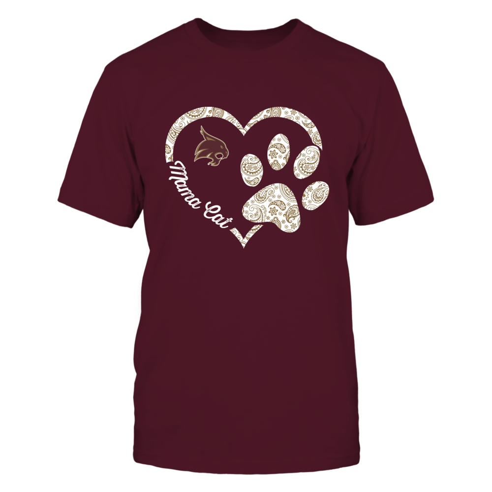 Texas State Bobcats - Mama Cat - Heart Paw Front picture
