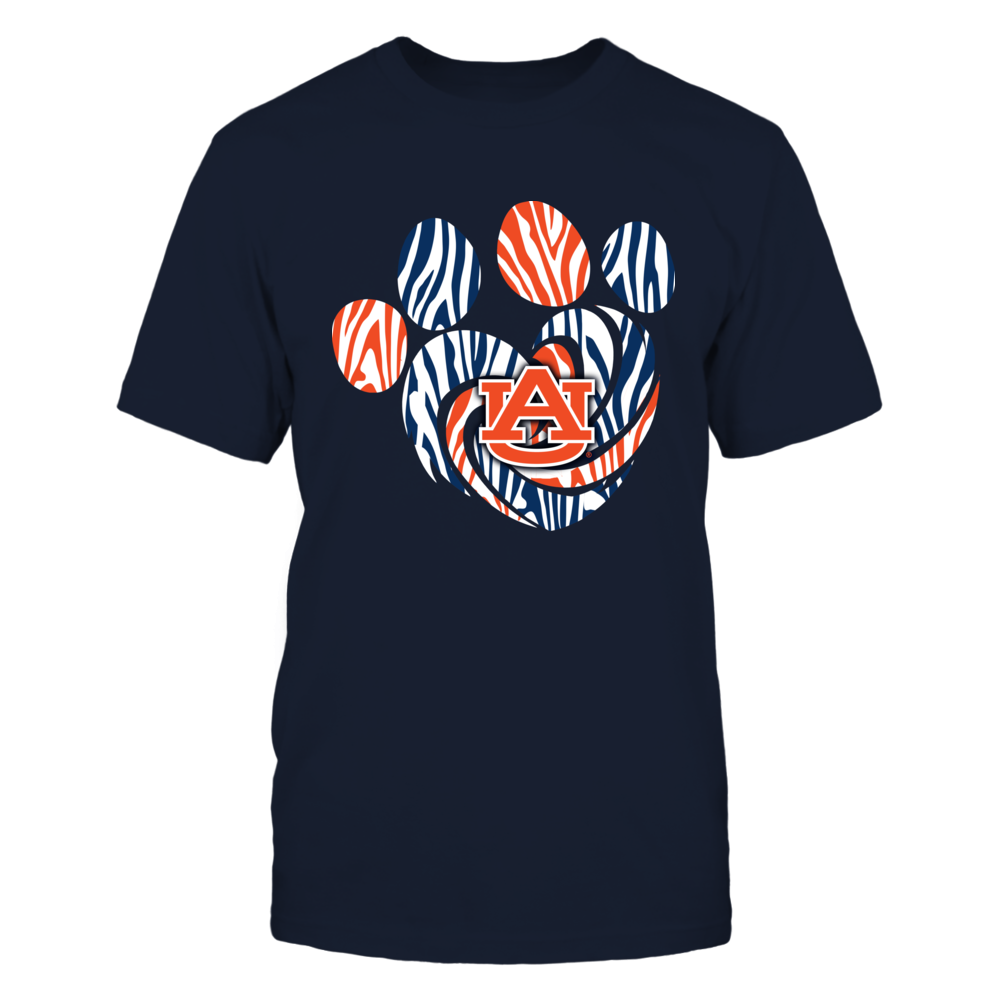 Auburn Tigers - Tiger Stripe Heart Paw Front picture