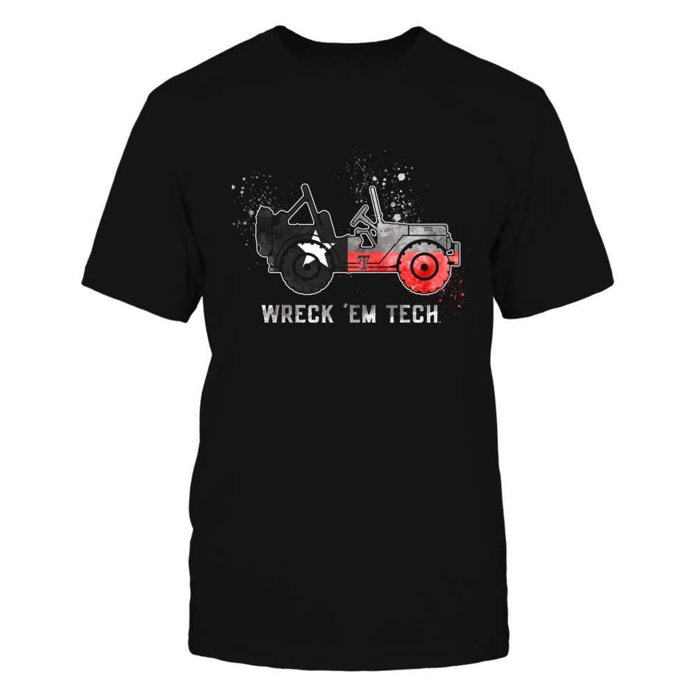 Texas Tech Red Raiders - Jeep - Jeep Car - Texas Flag Front picture