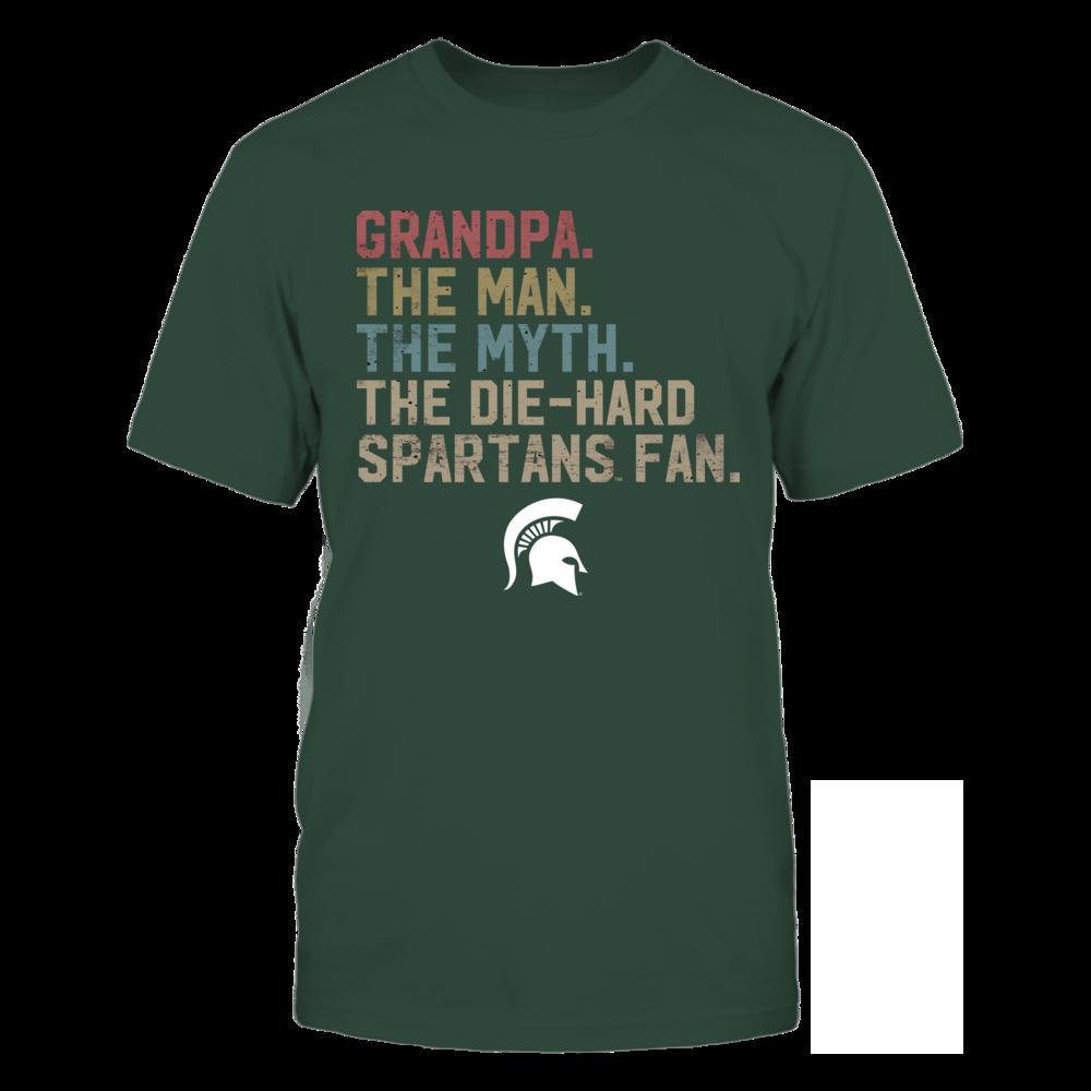 Michigan State Spartans - The Man - Myth - Legend - Retro Style - Ver 2 - Grandpa Front picture