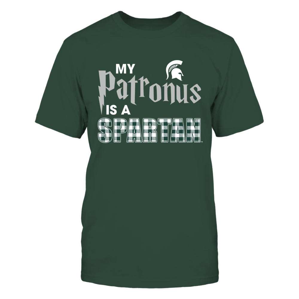 Michigan State Spartans - My Patronus - Checkered  Patterned Letter Front picture
