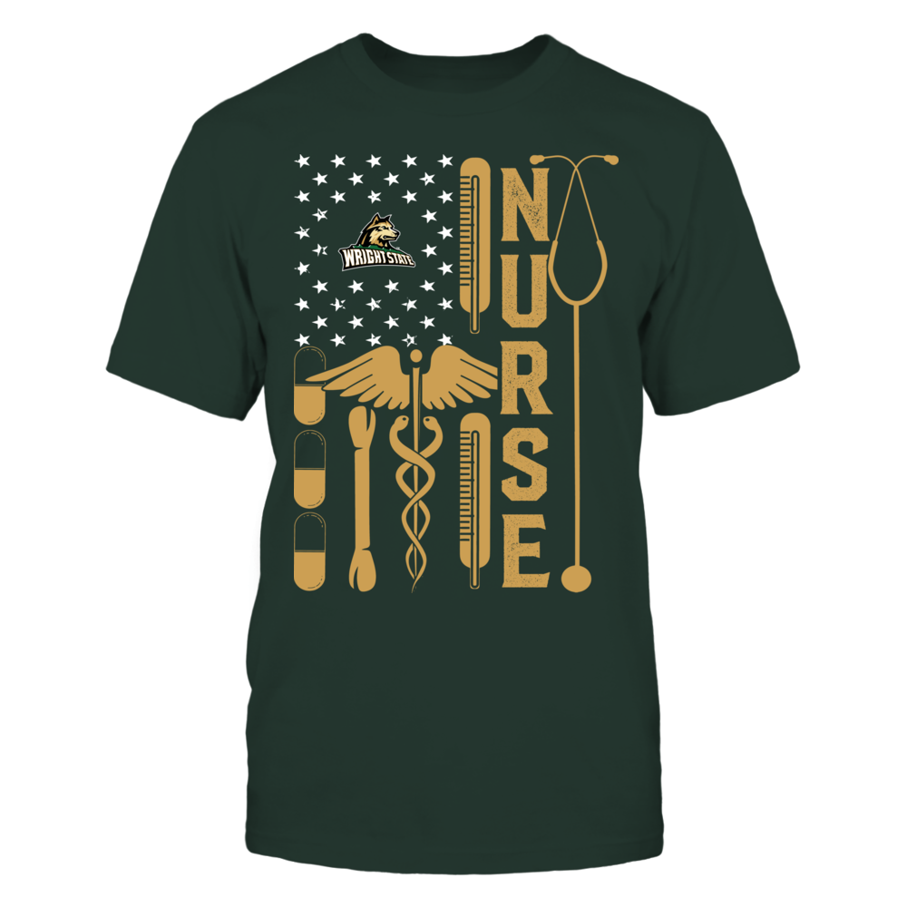 Wright State Raiders - Flag Shirt - Nurse Front picture