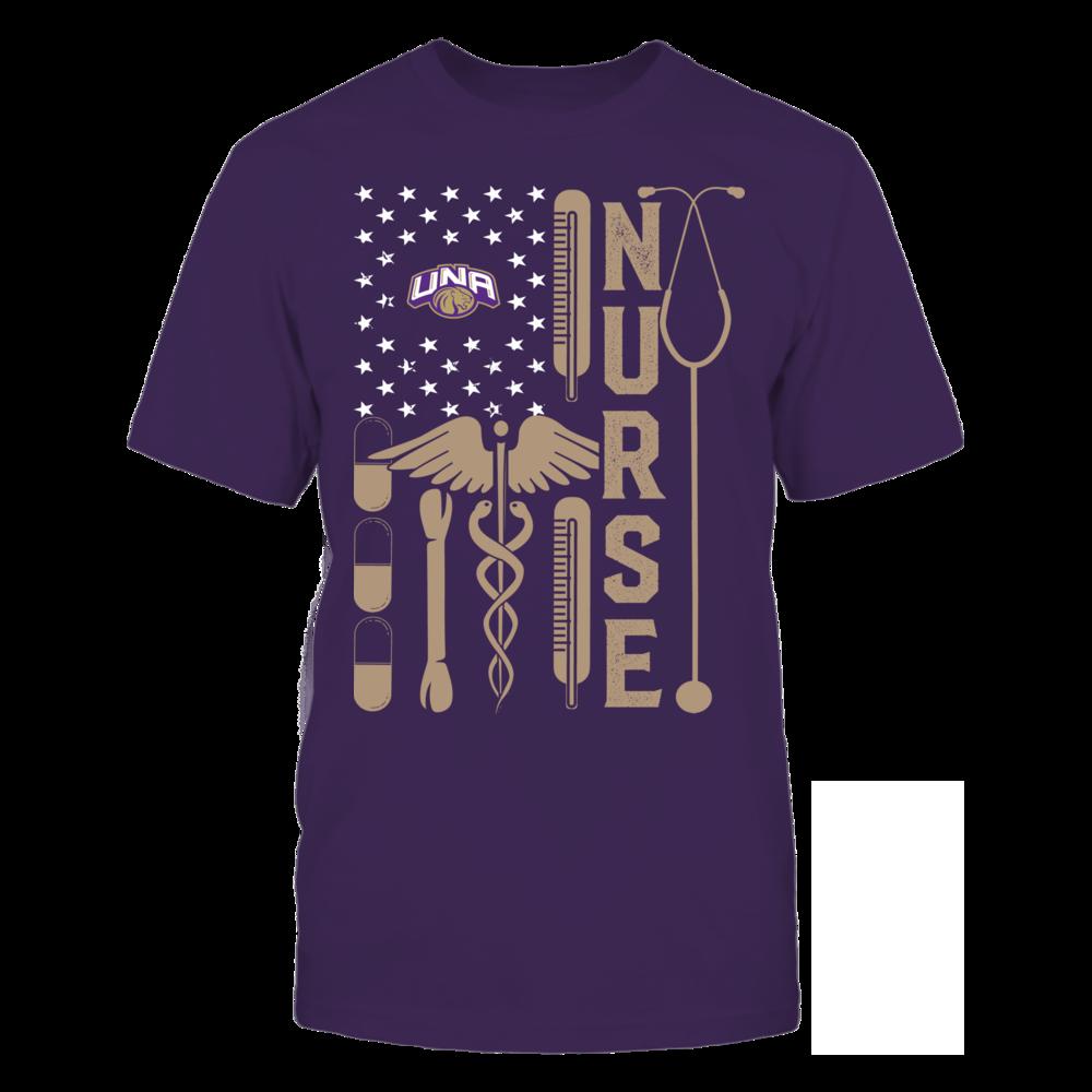 North Alabama Lions - Flag Shirt - Nurse Front picture