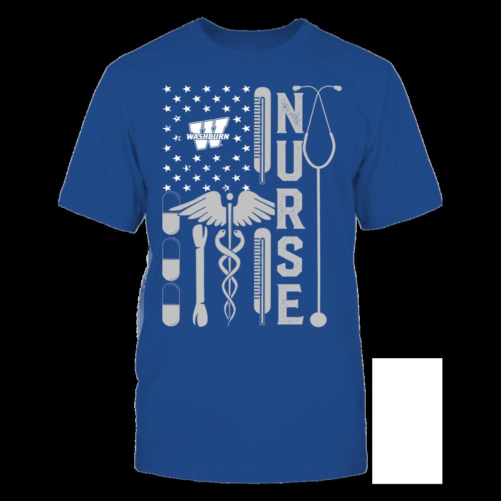 Washburn Ichabods - Flag Shirt - Nurse Front picture