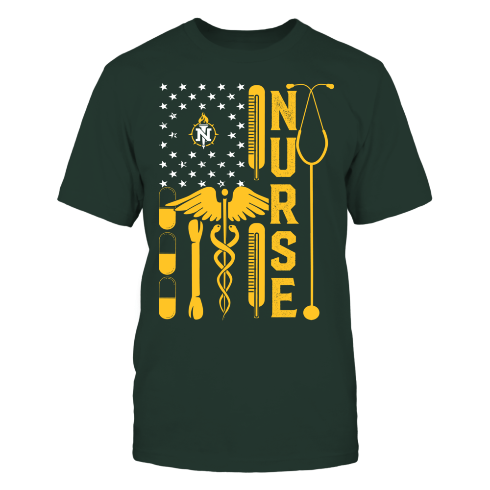 Northern Michigan Wildcats - Flag Shirt - Nurse Front picture