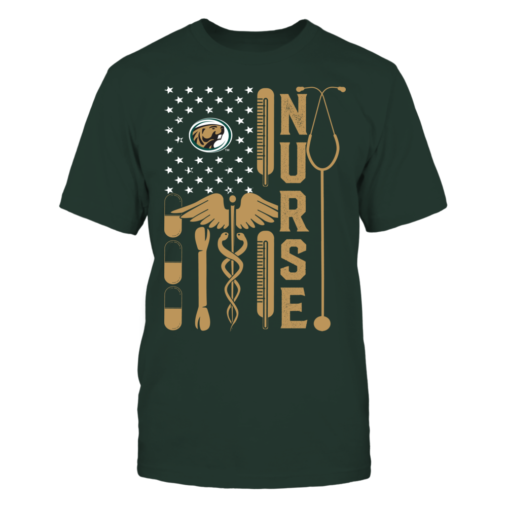 Bemidji State Beavers - Flag Shirt - Nurse Front picture