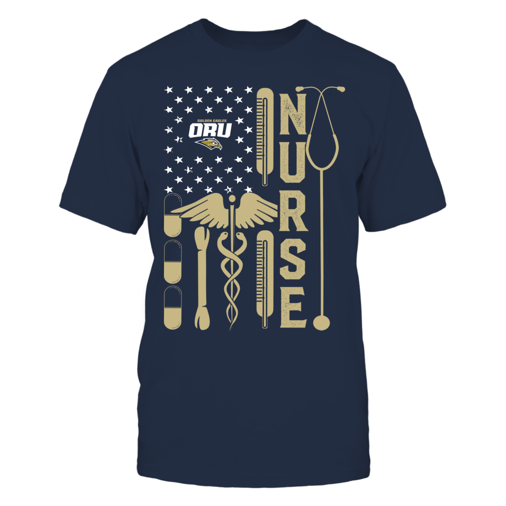 Oral Roberts Golden Eagles - Flag Shirt - Nurse Front picture