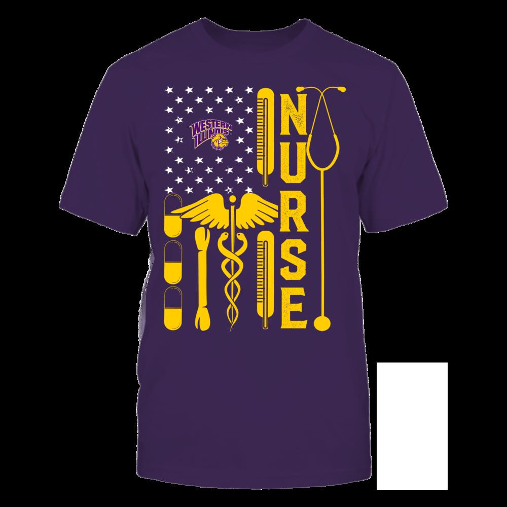 Western Illinois Leathernecks - Flag Shirt - Nurse Front picture