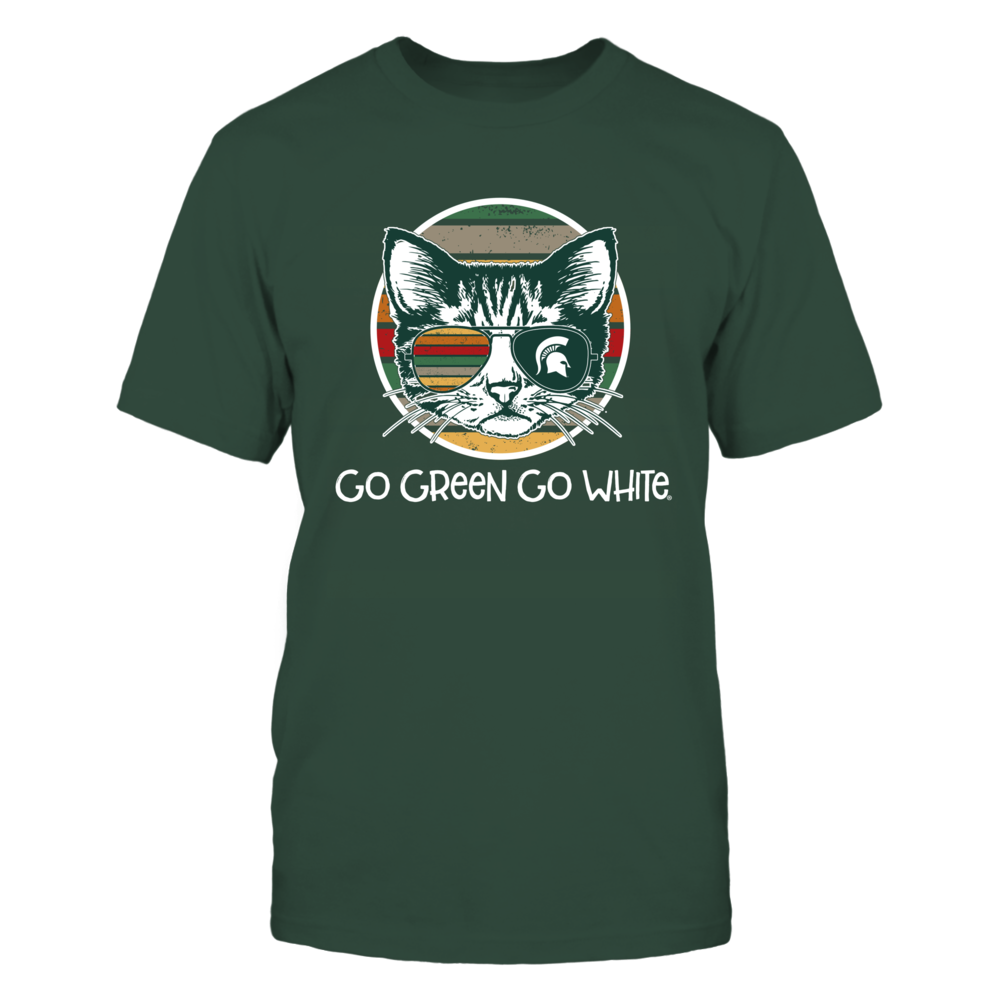 Michigan State Spartans - Cat Vintage Style - Glass Front picture