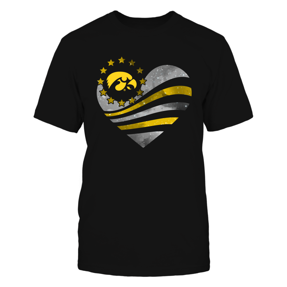 Iowa Hawkeyes - Galaxy Flag Heart Front picture