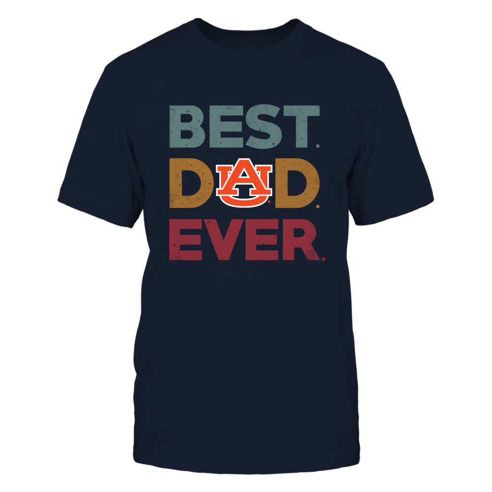 Auburn Tigers - Best Dad Ever Logo - Vintage Style Front picture
