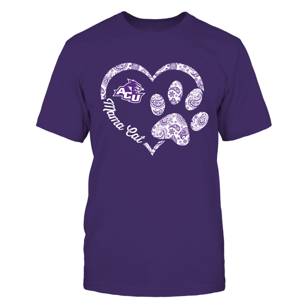 Abilene Christian Wildcats - Mama Cat - Heart Paw Front picture