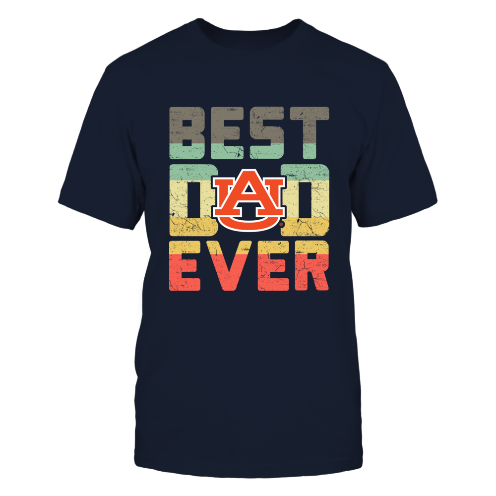 Auburn Tigers - Best Dad Ever - Vintage Graphic Front picture