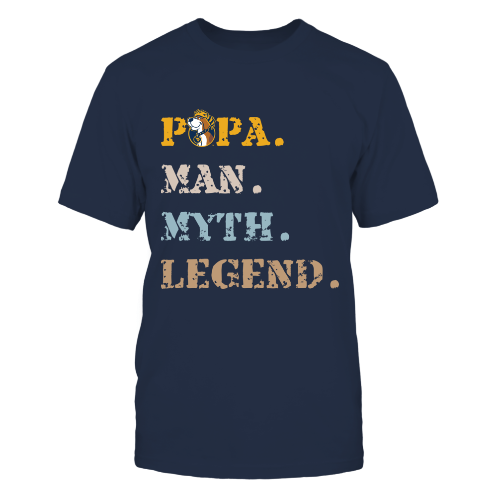 West Virginia Mountaineers - Papa Man Myth Legend Front picture
