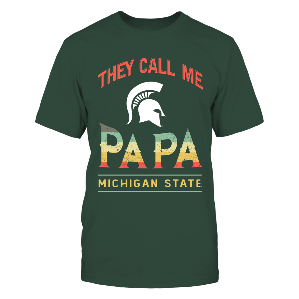 Michigan State Spartans - They Call Me - Vintage Graphic Front picture