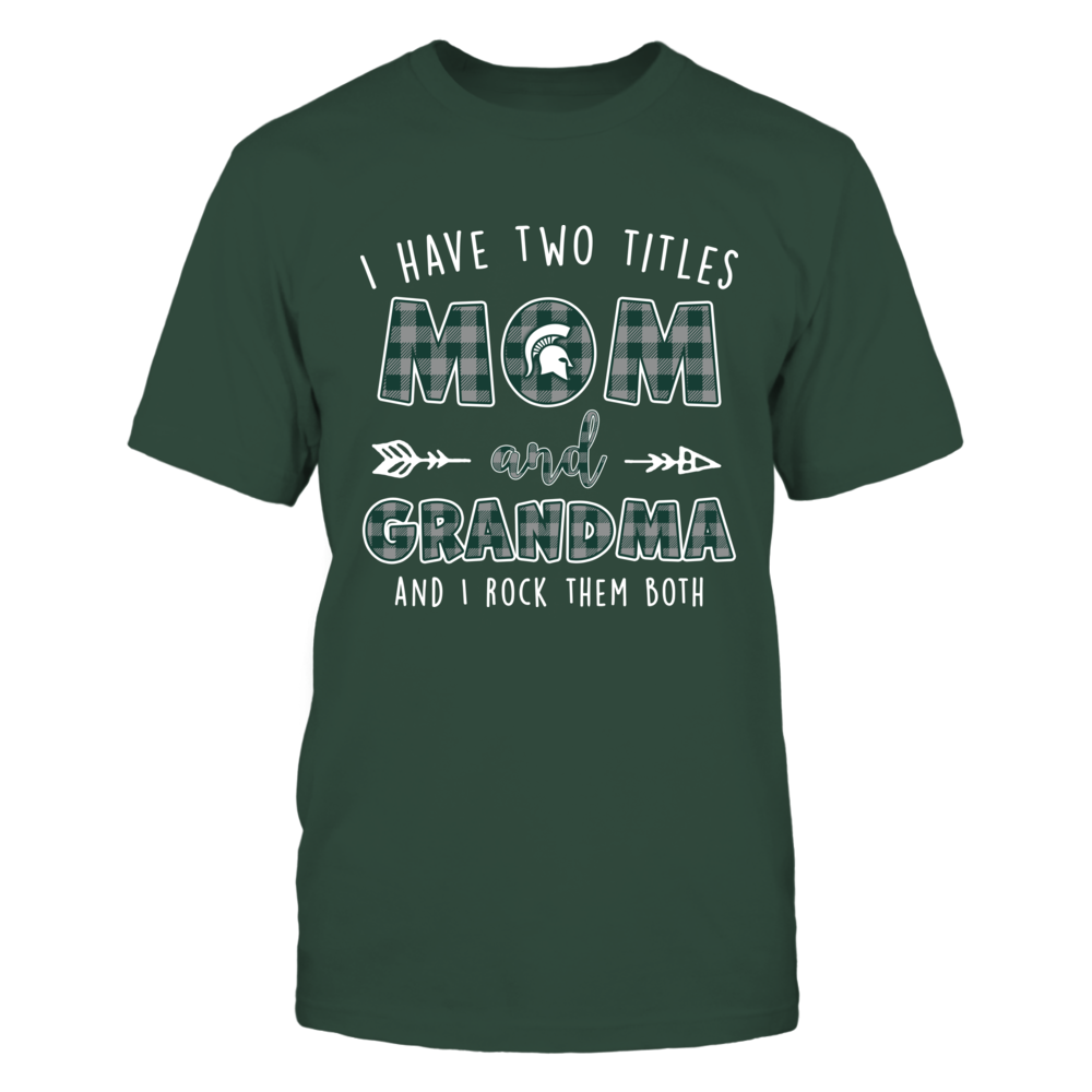 Michigan State Spartans - Two Titles Checkered Pattern Front picture