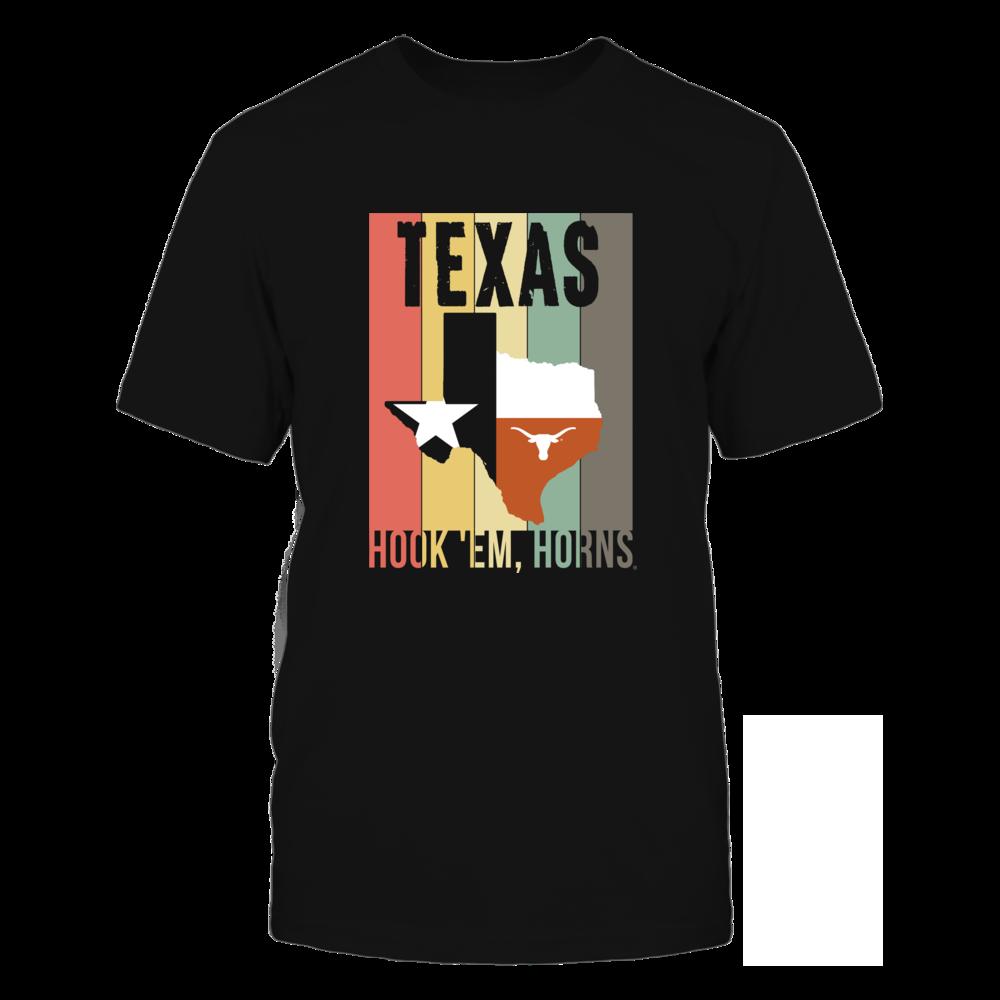 Texas Longhorns - Texas Retro Vintage Art Design Front picture