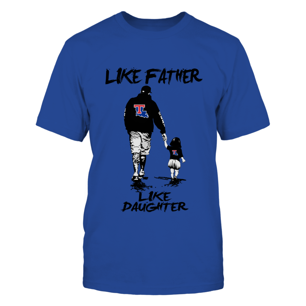 Louisiana Tech Bulldogs - Like Father Like Daughter - Grey Shirt Front picture